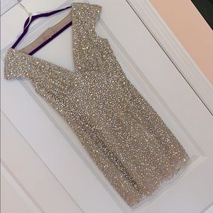 Sherri Hill Capped Sleeve Mini Dress
